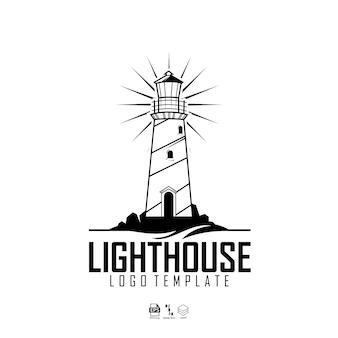Modèle de logo de maison lumineuse avec un fond blanc