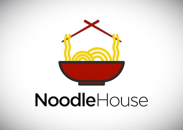 Modèle de logo de la maison de nouilles