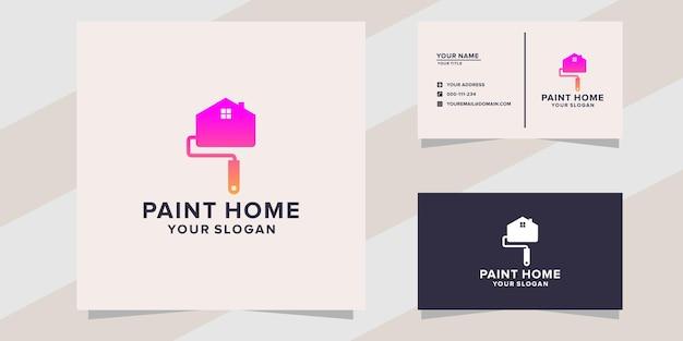 Modèle de logo de maison de peinture