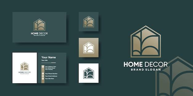 Modèle de logo à la maison