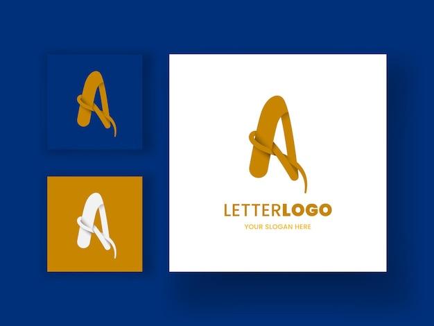 Un modèle de logo en majuscule