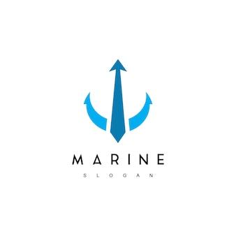 Modèle de logo marin professionnel