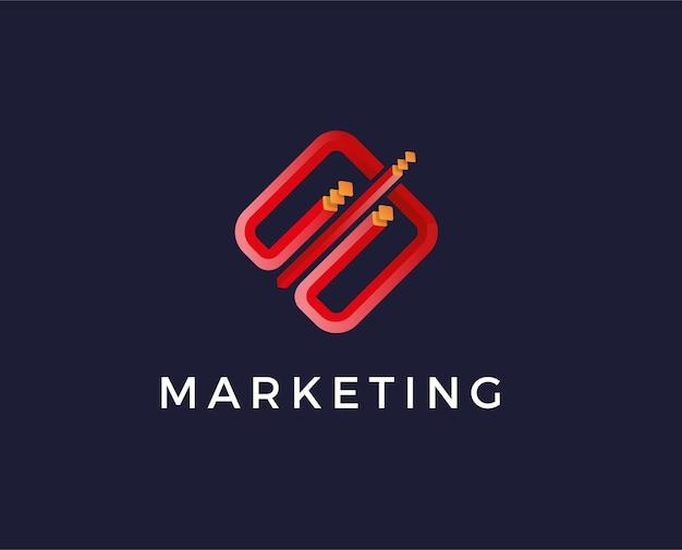 Modèle de logo marketing minimal