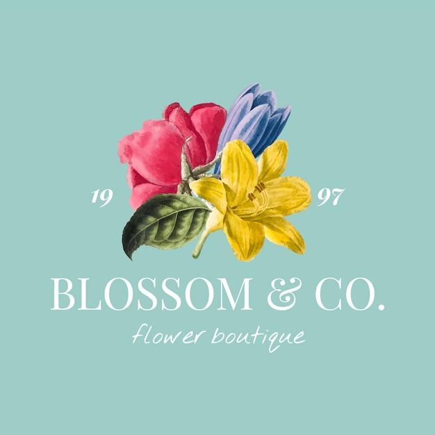 Modèle de logo de marque de fleur
