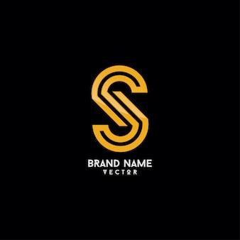 Modèle de logo de marque monogram s letter
