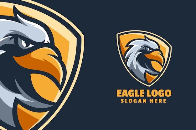 Modèle de logo de mascotte d'aigle