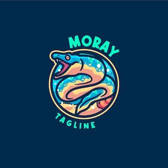 Modèle de logo de mascotte d'anguille