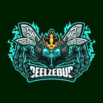 Modèle de logo mascotte beelzebub