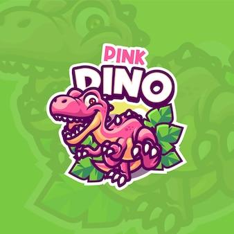 Modèle de logo de mascotte dino