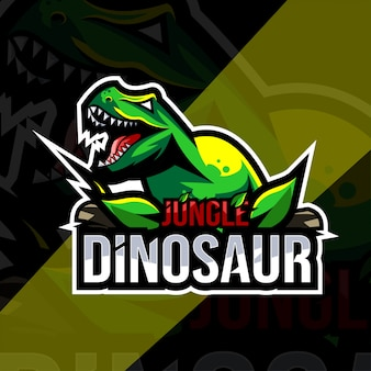 Modèle de logo de mascotte de dinosaure