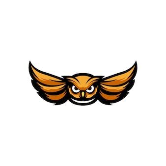Modèle de logo mascotte hibou