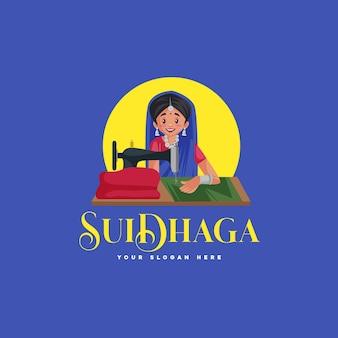 Modèle de logo de mascotte indienne suidhaga