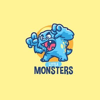 Modèle De Logo De Mascotte De Monstre Vecteur Premium