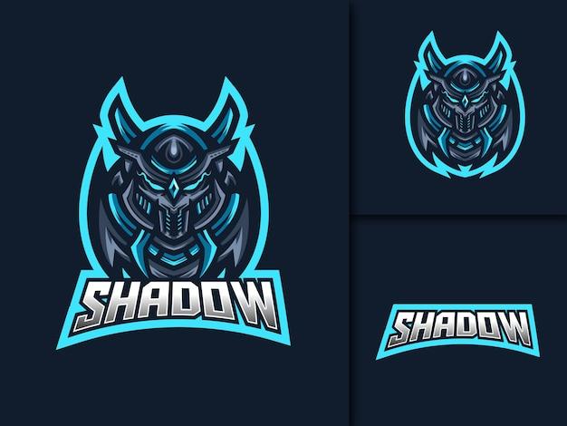 Modèle de logo de mascotte ninja esport gaming