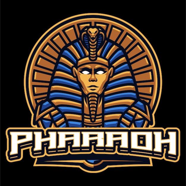 Modèle de logo mascotte pharaon