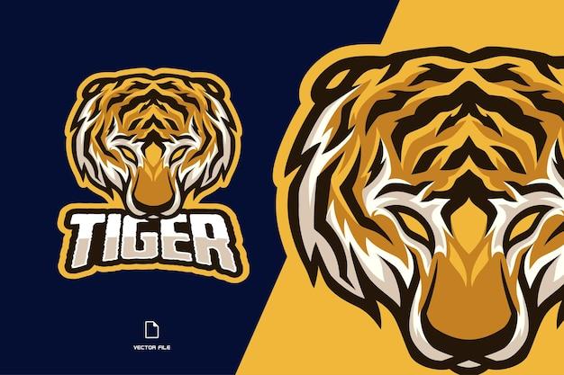 Modèle de logo de mascotte de tigre