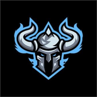 Modèle de logo de mascotte viking esport