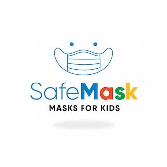 Modèle de logo de masque facial