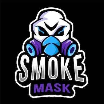 Modèle de logo de masque de fumée esport