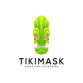 Modèle de logo de masque tiki