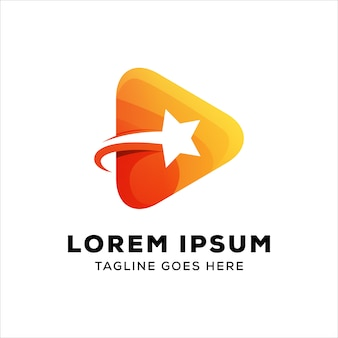 Modèle de logo média étoiles