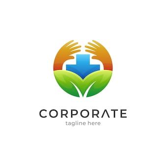 Modèle de logo médical de soins de santé