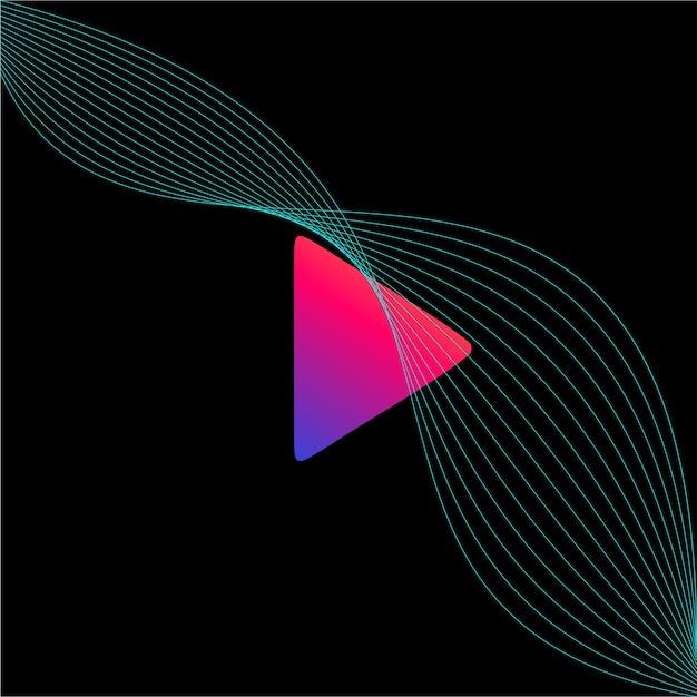 Modèle de logo de mélange abstrait