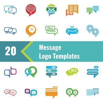 Modèle de logo de message