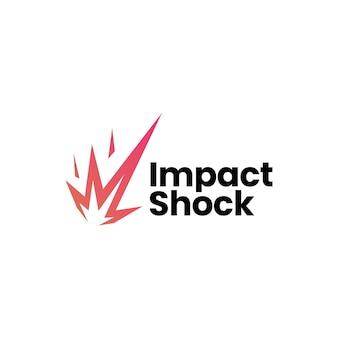 Modèle de logo de météore de choc d'impact