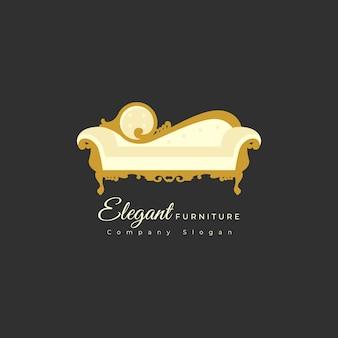 Modèle de logo de meubles élégants