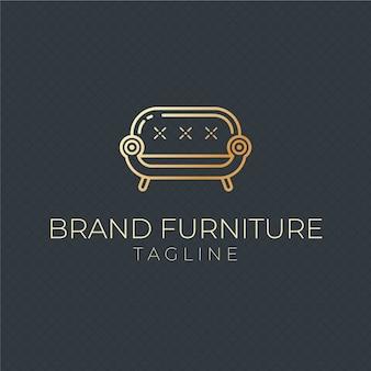 Modèle de logo de meubles de luxe