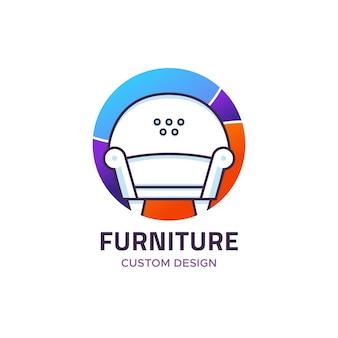 Modèle de logo de meubles