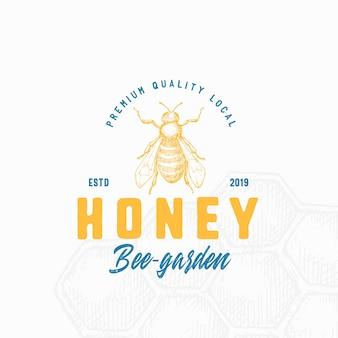 Modèle de logo de miel local premium.