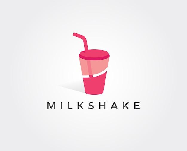 Modèle de logo de milk-shake