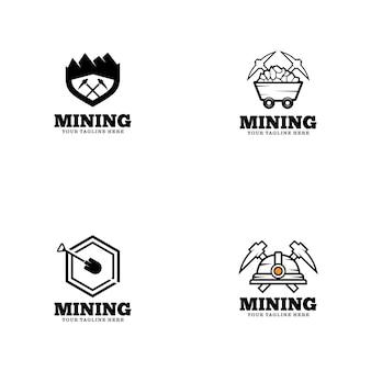 Modèle de logo minier