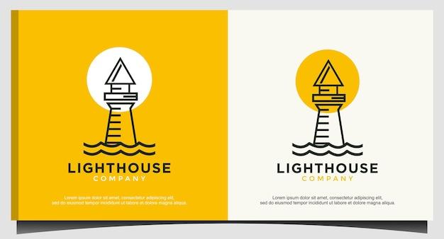 Modèle de logo minimaliste de phare