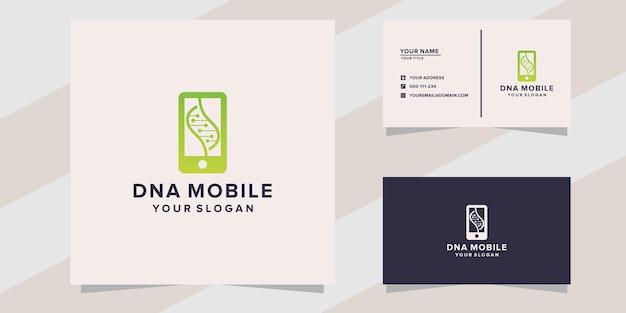 Modèle de logo mobile d'adn