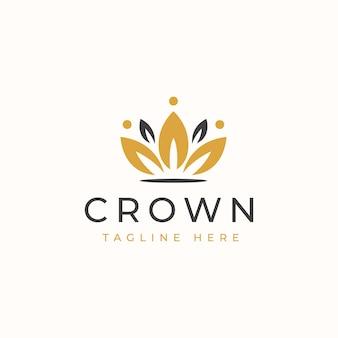 Modèle de logo de modèle de logo floral couronne.