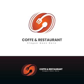 Modèle De Logo Moderne Café Et Restaurant Vecteur Premium