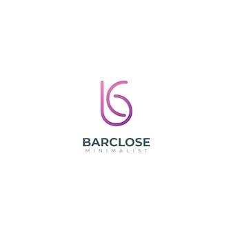 Modèle de logo moderne dégradé lettre bc