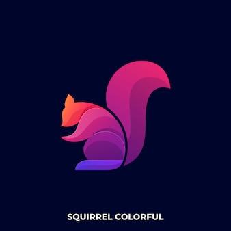Modèle de logo moderne écureuil