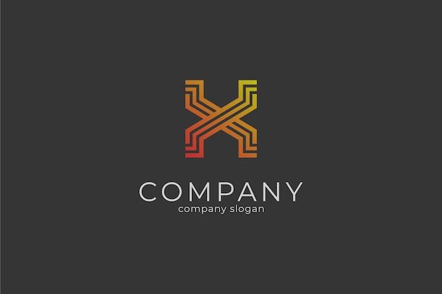 Modèle de logo moderne lettre x icône vector