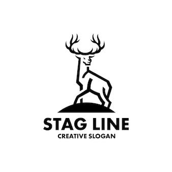Modèle de logo moderne de silhouette de cerf