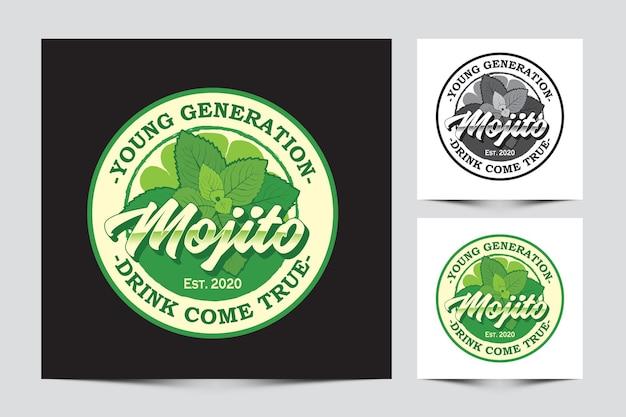 Modèle de logo mojito