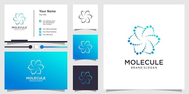 Modèle de logo de molécule avec un concept unique moderne vecteur premium