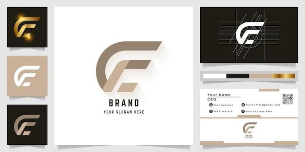 Modèle de logo monogramme lettre e ou ge avec conception de carte de visite