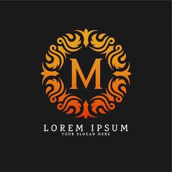 Modèle de logo monogramme de luxe