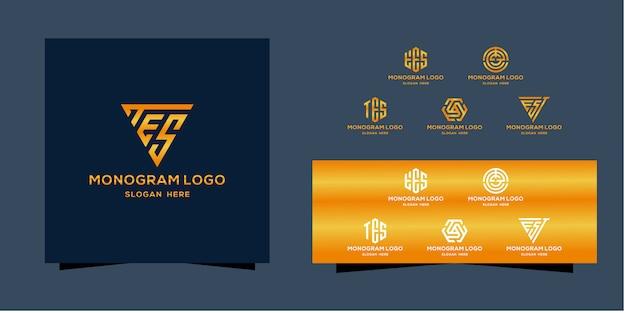 Modèle de logo monogramme
