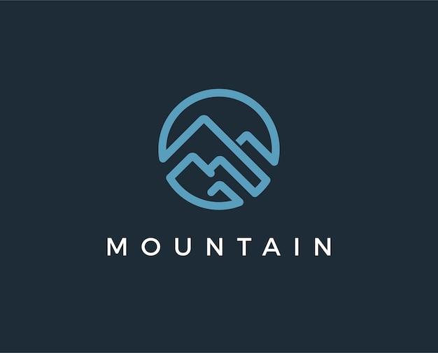 Modèle de logo de montagne minimal