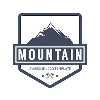 Modèle de logo de montagne et en plein air